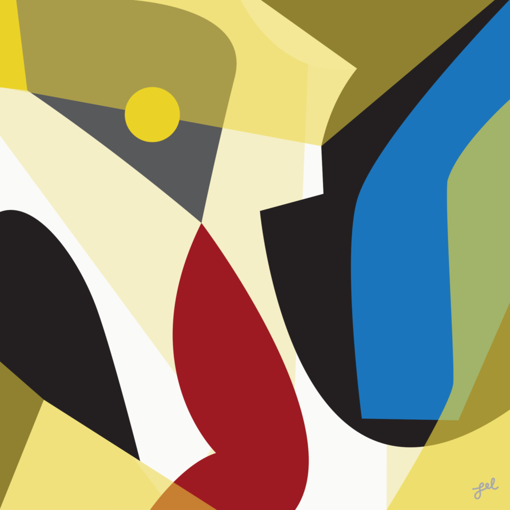 Bold and flat color fine art print