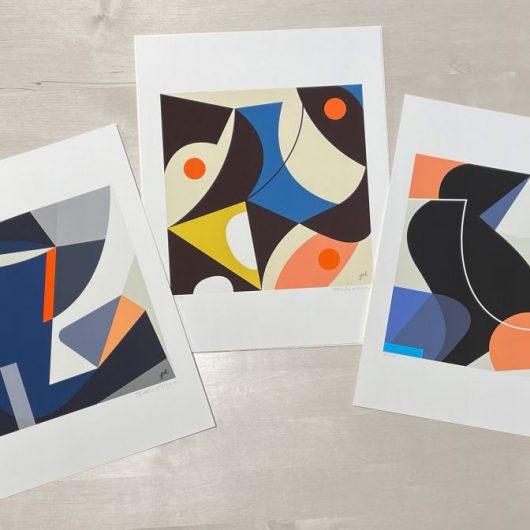 MidMod set of fine art prints